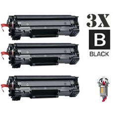 3 Piece Bulk Set Hewlett Packard CE285A HP85A combo Laser Toner Cartridges Premium Compatible