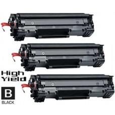 3 Piece Bulk Set Hewlett Packard CE278X High Yield combo Laser Toner Cartridge Premium Compatible
