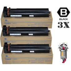 3 Piece Bulk Set Genuine Original Konica Minolta TN712 combo Laser Toner Cartridges