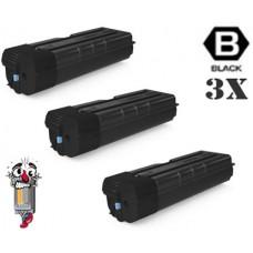 3 Piece Bulk Set Genuine Original Kyocera Mita TK6707 Black combo Laser Toner Cartridges