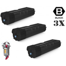 3 PACK Genuine Kyocera Mita TK6725 Black combo Laser Toner Cartridges