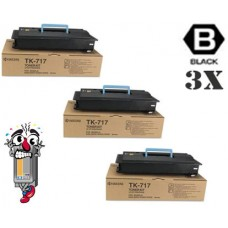 3 PACK Konica Minolta TK717 combo Laser Toner Cartridge Premium Compatible
