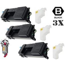 3 PACK Kyocera Mita TK3112 (1T02MT0US0) Black Toner Cartridge Premium Compatible