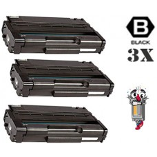 3 Piece Bulk Set Ricoh 406465 High Yield Black combo Laser Toner Cartridge Premium Compatible