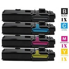 4 Piece Bulk Set Xerox 106R0222 / 106R222 High Capacity Black combo Laser Toner Cartridge Premium Compatible
