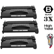 3 Piece Bulk Set Canon 052H High Capacity Black combo Laser Toner Premium Compatible