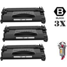 3 PACK Canon 052 Black combo Laser Toner Premium Compatible