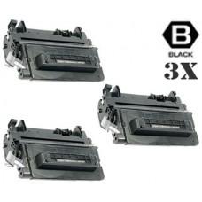 3 Piece Bulk Set Hewlett Packard CE390A HP90A Black combo Laser Toner Cartridge Premium Compatible