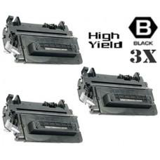 3 Piece Bulk Set Hewlett Packard CE390X HP90X High Yield Black combo Laser Toner Cartridge Premium Compatible