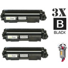 3 Piece Bulk Set Hewlett Packard CF217A combo Laser Toner Cartridge Premium Compatible