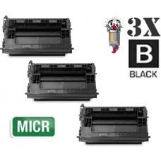 3 Piece Bulk Set Hewlett Packard HP37A CF237A mICR combo Laser Toner Cartridge Premium Compatible
