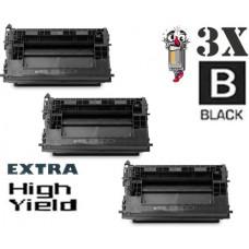 3 Piece Bulk Set Hewlett Packard HP37Y CF237Y Extra High Yield combo Laser Toner Cartridge Premium Compatible