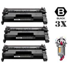 3 Piece Bulk Set Genuine Original Hewlett Packard CF258A combo Laser Toner Cartridges