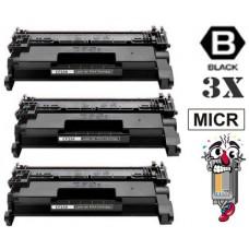 3 Piece Bulk Set Genuine Original Hewlett Packard CF258XM mICR High Yield combo Laser Toner Cartridges