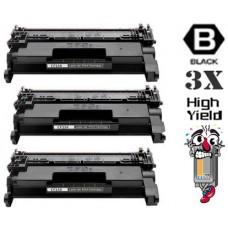 3 Piece Bulk Set Genuine Original Hewlett Packard CF258X High Yield combo Laser Toner Cartridges
