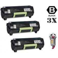 3 PACK Lexmark 24B6015 High Yield Toner Cartridges Premium Compatible