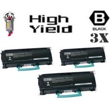 3 PACK Lexmark E360H11A High Yield Toner Cartridges Premium Compatible