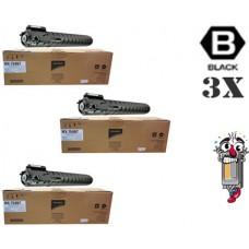 3 PACK Genuine Sharp MX754NT Black combo Laser Toner Cartridge