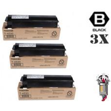 3 PACK Genuine Toshiba T3008U Black combo Laser Toner Cartridge