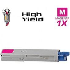 Okidata 43459302 High Yield Magenta Laser Toner Cartridge Premium Compatible