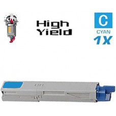 Okidata 43459303 High Yield Cyan Laser Toner Cartridge Premium Compatible