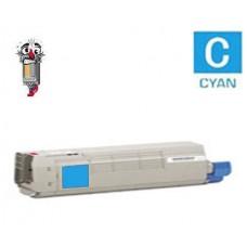 Genuine Okidata 43837127 Cyan Toner Cartridge