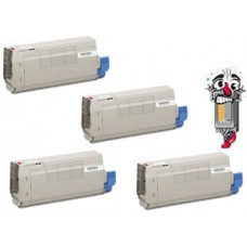 4 PACK Genuine OKI 449473 Series combo Laser Toner Cartridge