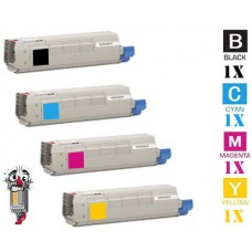 4 PACK Genuine OKI 4383712 combo Laser Toner Cartridge