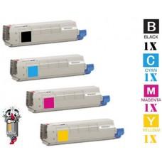 4 PACK OKI 443153 combo Laser Toner Cartridge Premium Compatible