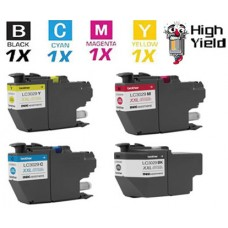 4 Piece Bulk Set Brother LC3029CIC Super High Yield combo Ink Cartridges Remanufactured