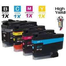 4 Piece Bulk Set Brother LC3033 Super High Yield vestment Tank Ink Cartridge Remanufactured