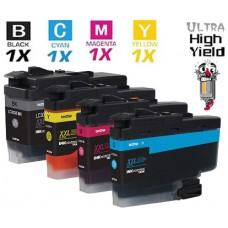 4 Piece Bulk Set Brother LC3035 Ultra High Yield vestment Tank Ink Cartridge Remanufactured