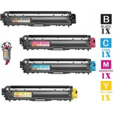 4 Piece Bulk Set Brother TN221/TN225 High Yield combo Laser Toner Cartridges Premium Compatible