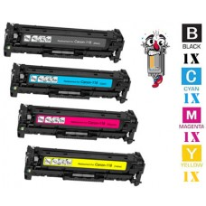 4 Piece Bulk Set Canon 118 combo Laser Toner Cartridges Premium Compatible