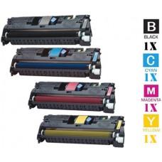4 Piece Bulk Set Canon E87 combo Laser Toner Cartridges Premium Compatible Premium Compatible