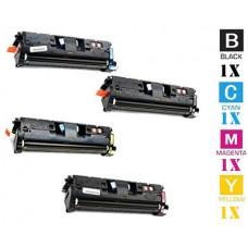 4 Piece Bulk Set Canon E87 Black combo Laser Toner Cartridge Premium Compatible
