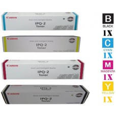 4 Piece Bulk Set Genuine Original Canon IPQ2 High Yield combo Laser Toner Cartridges