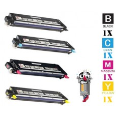 4 Piece Bulk Set Dell 310-809 combo Laser Toner Cartridges Premium Compatible