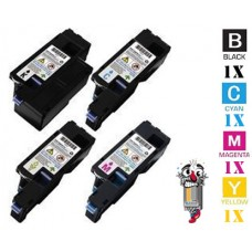 4 Piece Bulk Set Dell 4G9HP 5R6J0 4J0X7 XY7N4 combo Laser Toner Cartridges Premium Compatible