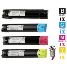 4 Piece Bulk Set Dell 72MWT 5Y7J4 H10TX JD14R combo Laser Toner Cartridges Premium Compatible