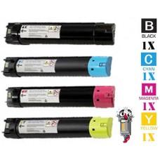 4 Piece Bulk Set Dell W53Y2 M3TD7 MPJ42 JXDHD combo Laser Toner Cartridges Premium Compatible
