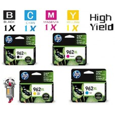 4 Piece Bulk Set Genuine Original Hewlett Packard HP962XL High Yield combo Ink Cartridge
