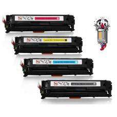 4 Piece Bulk Set Hewlett Packard HP125A combo Laser Toner Cartridges Premium Compatible