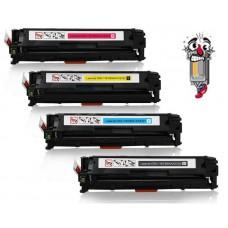 4 PACK Hewlett Packard HP125A combo Laser Toner Cartridges Premium Compatible