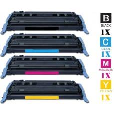 4 Piece Bulk Set Hewlett Packard HP124A combo Laser Toner Cartridges Premium Compatible
