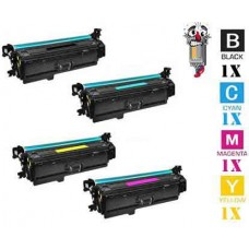 4 Piece Bulk Set Hewlett Packard HP201A combo Laser Toner Cartridges Premium Compatible