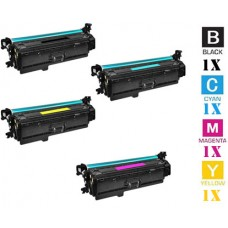 4 Piece Bulk Set Hewlett Packard HP201X combo Laser Toner Cartridges Premium Compatible