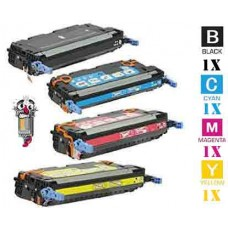 4 Piece Bulk Set Hewlett Packard HP503A combo Laser Toner Cartridges Premium Compatible