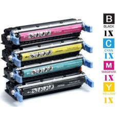 4 Piece Bulk Set Hewlett Packard HP641A combo Laser Toner Cartridges Premium Compatible