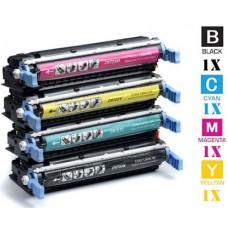 4 Piece Bulk Set Hewlett Packard HP645A combo Laser Toner Cartridges Premium Compatible